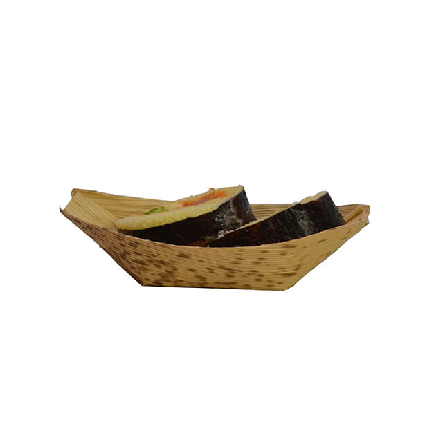 80mm Bamboo Leaf Sushi Boat