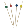 Bamboo Flat Ball Skewers