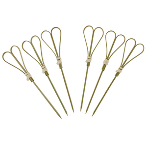 90mm Bamboo Heart Skewer
