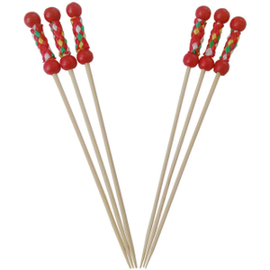 Bamboo Double Bead Skewers