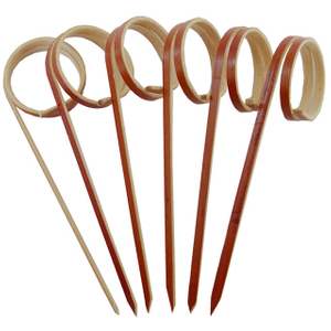 120mm Red Looped Skewer