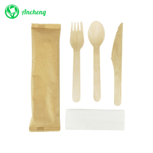 Disposable Wooden Cutlery Set for Party