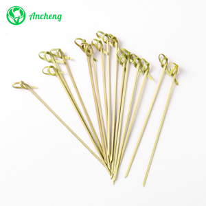 Disposable Bamboo Knotted Cocktail Skewers Picks